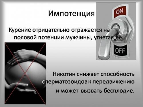 Курение и импотенция у мужчин